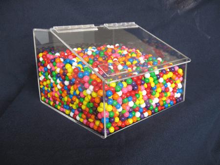 Acrylic Hinged Lid Bin Wholesale Containers Acrylic Bins