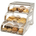 Large Tiered Steel Bakery Display