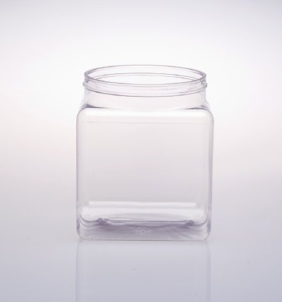 Square Plastic Container Shaped Jars Lidded Clear Jars