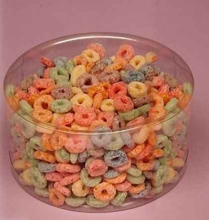 clear plastic containers candy displays round bins