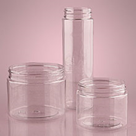 16 Ounce Tall Clear Screw Top Jars Plastic Candy Containers