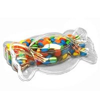 Clear Shaped Candy Box - 48ct