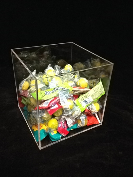 Square Acrylic Display Bin Small Display Cube Candy Display