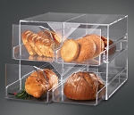 Acrylic Bakery Display - 4 Compartments