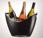 Black Wine Gondola Bucket - 4ct