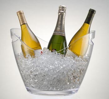 Wine Gondola Bucket Clear Bucket Display Buckets For Ice