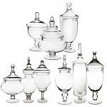 Glass Apothecary Candy Jars - 9ct