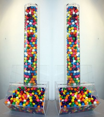 Extra Large Candy Bin W Acrylic Tube Scoop Candy Display