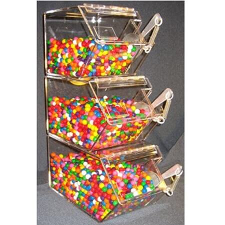 Individual Stacking Scoop Bins Acrylic Bulk Candy Bins