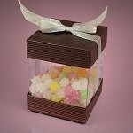 Large Bronze Charcoal Box With Cap & Bow - 48ct