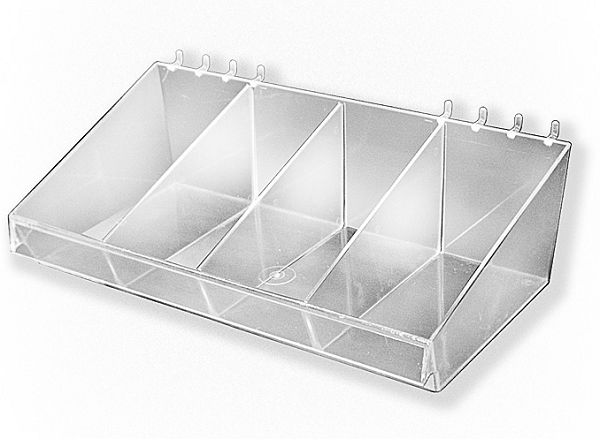 Large Acrylic Divider Bins Candy Containers Pegboard