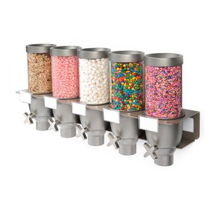 Ez Multi Cone 5sw Dispenser Topping Dispenser Candy Bin