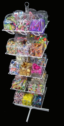 30 Bucket Rotating Rack Bucket Racks Candy Displays