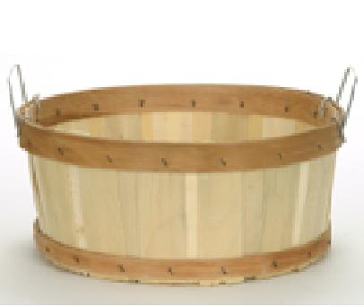 Shallow Half Bushel Flat Bottom Baskets - 12ct