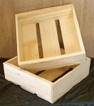Shallow Pine Boxes - 12ct