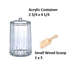 Small Acrylic Jars & Wood Scoops - 6ct