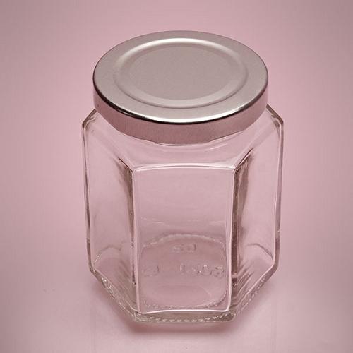 Small Hexagon Glass Jars With Lids Unique Jar Glass Jars
