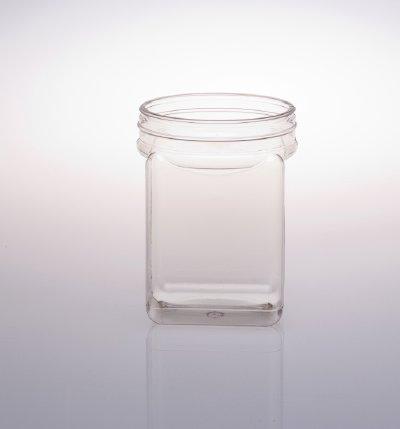 50 Oz Plastic Square Jars Container Square Containers Bins