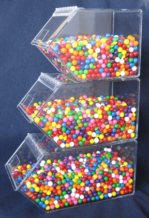 10in Individual Stacking Bins Clear Bulk Candy Dispenser
