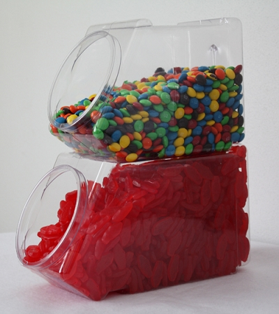 134 Oz Oblong Stackable Jars Plastic Containers