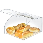 Acrylic Curved Display Case w/ Metal Hinged Lift-Open Lid