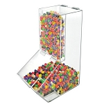4 Gallon Acrylic Lift-Open Candy Bin and Scoop