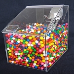 Acrylic Candy Bin w/Vertical Scoop Holder - 8
