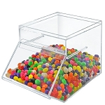 Acrylic Stacking Candy Bin w/Slide-Up Door 1.5 Gallon