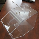 Clear Acrylic Food Bin w/ Interior Scoop