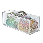 Deluxe Clear Plastic Rectangular Bin - 4ct