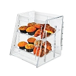 Acrylic Food Display Case w/Spring-Hinged Doors