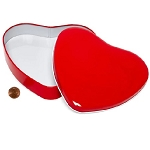 Large Red Heart Shaped Tin - 24ct