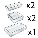 Clear Deluxe 5pc Tray Set