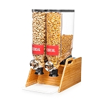 Double Bamboo Dispenser - Stand & Catch Tray
