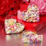 Heart Shaped Plastic Boxes - 36ct