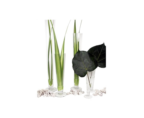 ''Clear Glass Trumpet VASE - 20''''H - 6ct''
