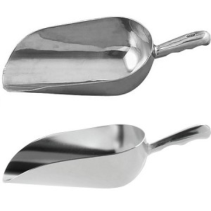 12oz Aluminum Scoop - Groove Handle