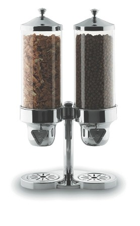 Double Stainless Steel Topping Dispenser