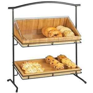 Double Tier Iron Stand With Trays