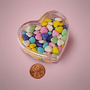 Clear Plastic Heart Containers - 2.5in - 36ct