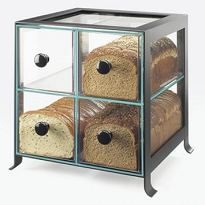 4 Compartment Bread Case - Black Frame