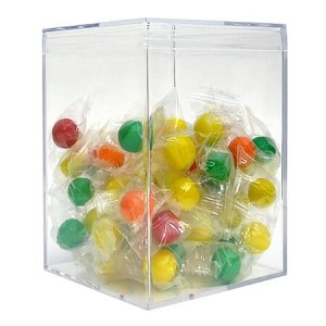 42 oz Jumbo Square Clear Box - 12ct