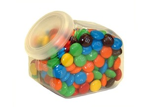 Hexagon Candy Jars With Lids - 72ct