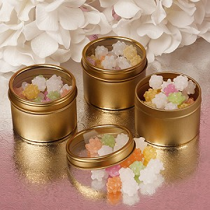 Large Gold Windowed Tins - 24ct