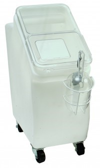 Mobile Scoop Bin With Lid - 12 Gallon