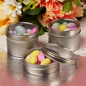 Windowed Round Tin  - 8oz  - 24ct