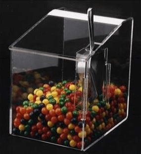 Acrylic Candy Bin With Vertical Scoop Holder