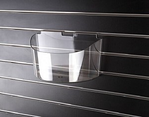 Acrylic Slatwall Molded Arc Bin - 5ct