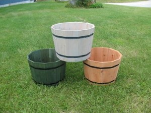 "Cedar Whiskey Barrel Planter - 18""D x 14""H - 4ct"