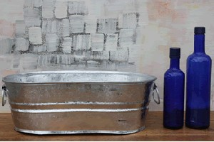 Galvanized Oval Tub 3 7 Gallon Metal Ice Cooler